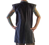 Long Pirate Vest - Black/Stone Black - zootzu