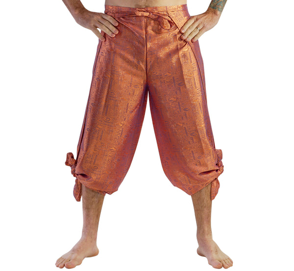 'Wrap Pants' Silk - Copper/Purple Sheen - zootzu