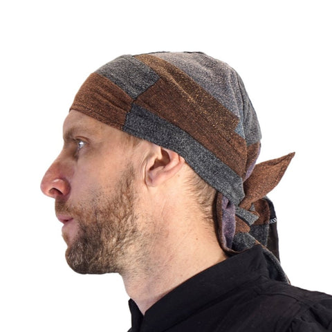 'Pirate Bandana' Medieval Hat - Stone Patchwork