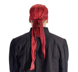 'Pirate Bandana' Medieval Hat, Silk - Red - zootzu