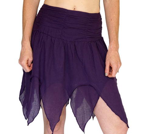 'Fairy' Gypsy Pirate Pixie Skirt - Purple