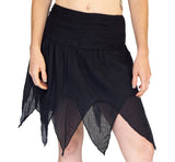 'Fairy' Gypsy Pirate Pixie Skirt - Black - zootzu