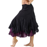 'Two Layer' Gypsy Renaissance Skirt - Black/Purple - zootzu
