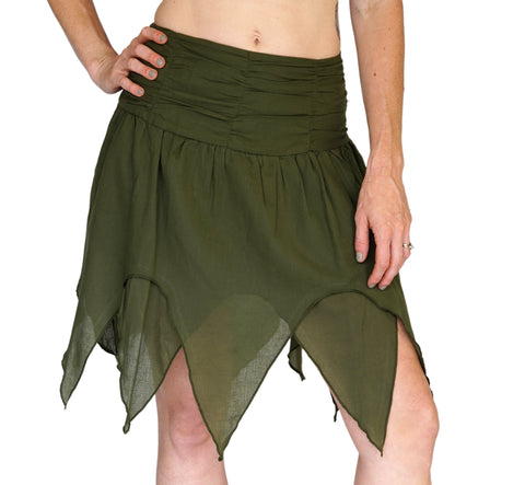 'Fairy' Gypsy Pirate Pixie Skirt - Green