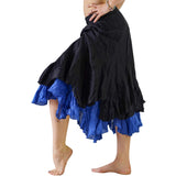 'Two Layer' Gypsy Renaissance Skirt - Black/Blue - zootzu