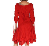 'Bonny Dress' Womens Renaissance Gypsy Gown Pirate Costume - Red - zootzu