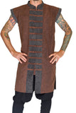 Long Pirate Vest - Stonewashed Brown/Brown Buttons - zootzu