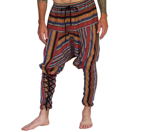 'Scallywag' Pants, Harem, Pirate, Gypsy, Jester, Alladin - Multi Colored