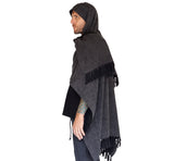 'Mantle Wrap' Medieval Shawl, Poncho, Cloak  - Earthy Gray - zootzu