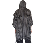 'Mantle Wrap' Medieval Shawl, Poncho, Cloak  - White/Black - zootzu