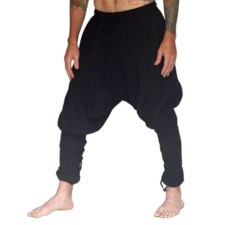 'Scallywag' Pants, Pirate, Harem, Jester - Solid Black