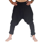'Scallywag' Pants, Pirate, Harem, Jester - Solid Black - zootzu