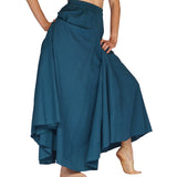 'Sadie' Renaissance Festival, Steampunk, Long Flowing Skirt - Blue
