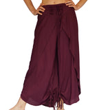 'Split Pants' Rayon, harem womens pirate pants - Dark Purple