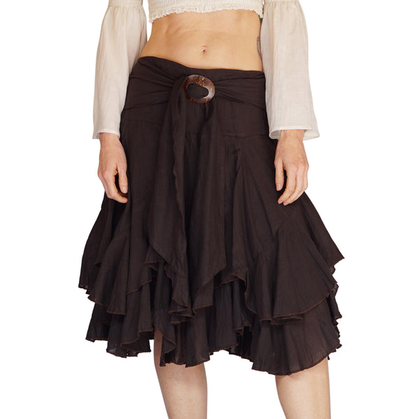 'Willow' Pirate Steampunk Skirt - Brown