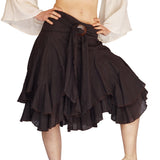 'Willow' Gypsy Pirate Steampunk Skirt - Brown
