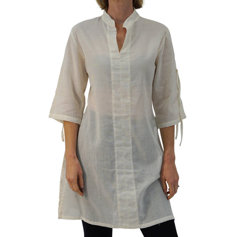 'Sage' Long Chemise, Womens Medieval Shirt - Cream