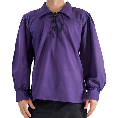 'Merchant' Renaissance Pirate Shirt - Purple