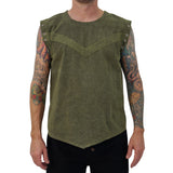 'Squire Shirt' Renaissance Period Medieval Pirate - Stone Green