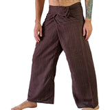 Thai Fisherman Pants - Striped Brown - zootzu