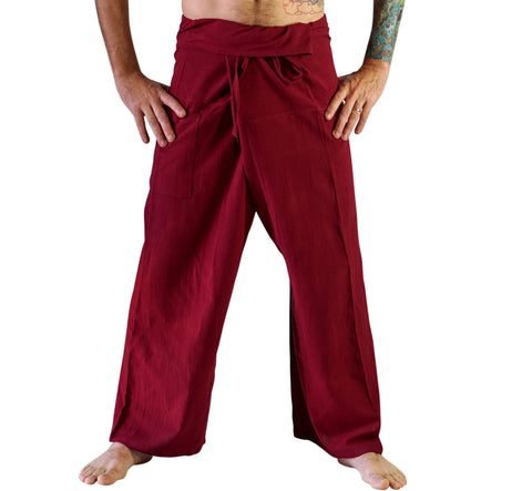 Thai Fisherman Pants - Dark Red