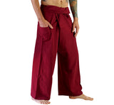 Thai Fisherman Pants - Dark Red - zootzu