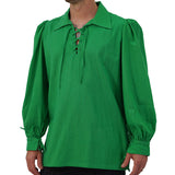 'Merchant' Renaissance Period Shirt, St Patrick's Day - Bright Celtic Green