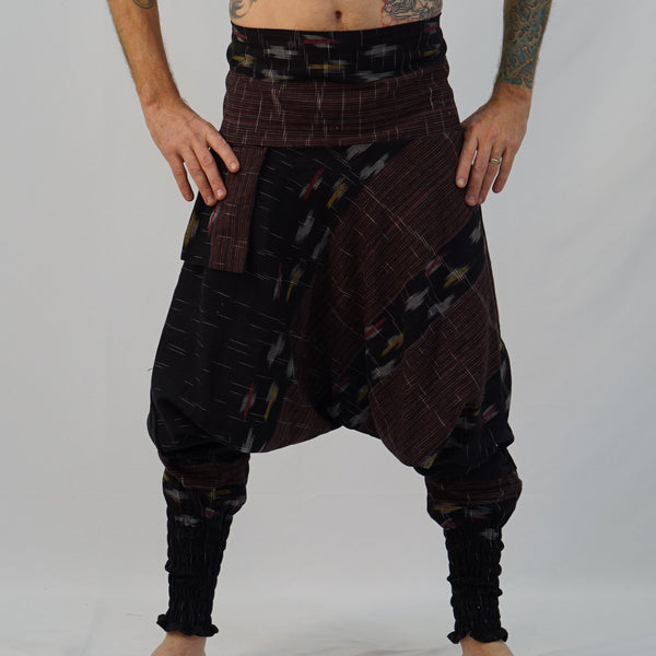 'Mao Pants' Cotton Peasant, Smock Bottoms - Black