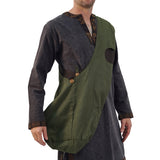 'Monk Bag' Medieval Messenger Bag - Green/Brown