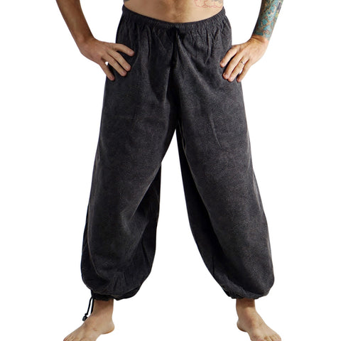 Baggy Pirate Pants - Stonewashed Gray