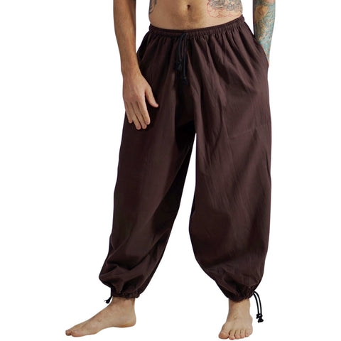 Baggy Pirate Pants - Dark Brown
