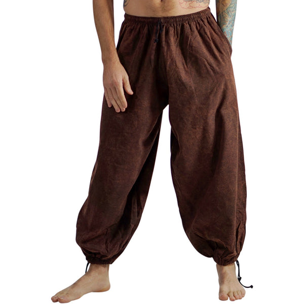 Baggy Pirate Pants - Stonewashed Brown - zootzu