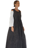 Womens Duster' Medieval, Viking Princess, Renaissance Gown - Stonewashed Gray
