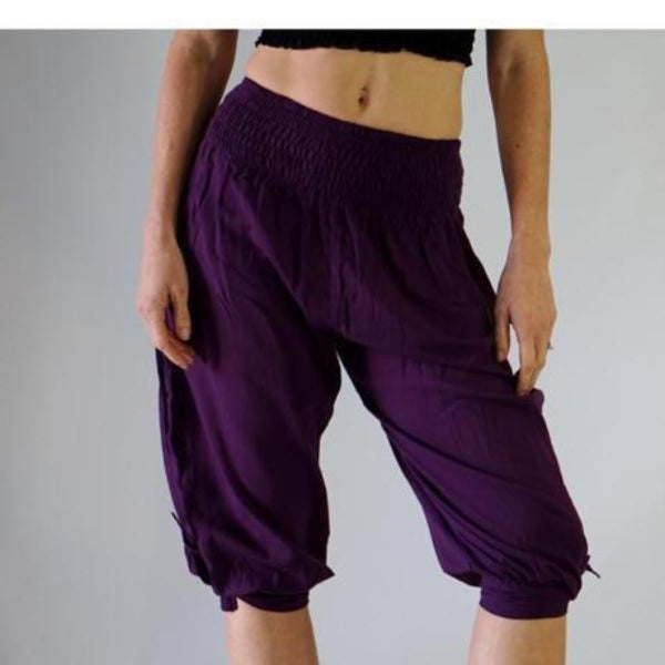 'Castaway' Womens Pirate Pants - Purple - zootzu