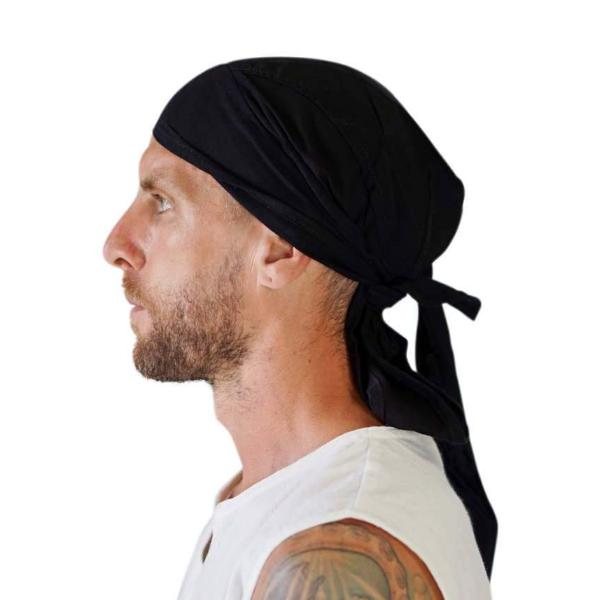 'Pirate Bandana' Medieval Hat - Black - zootzu
