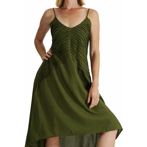 'Ray' Dress - Green