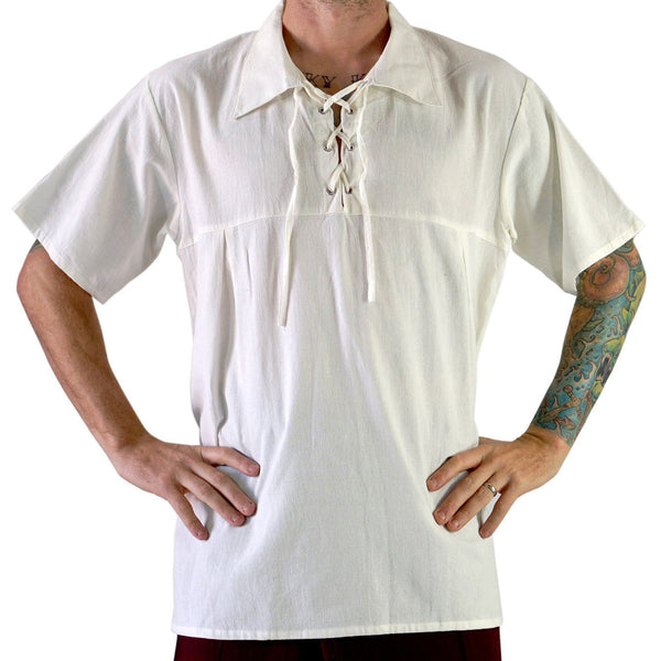 Renaissance Shirt, Short Sleeves- Cream - zootzu