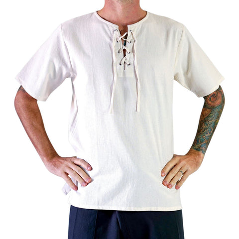 'Freeman' Medieval Viking Shirt - CREAM