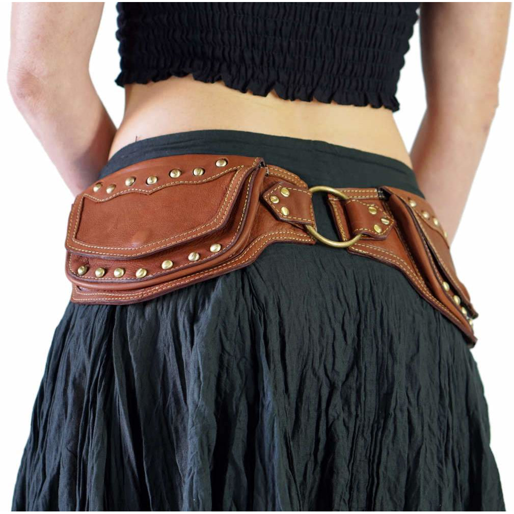 b59b2ef558e4 'Scallop' Leather Utility Belt - Brown