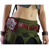 Star' Leather Utility Belt, Boho  - Red - zootzu