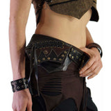 Lace' Boho  Leather Utility Belt - Black - zootzu