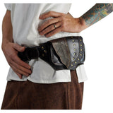 'Double Leaf' Leather Utility Belt - Black - zootzu