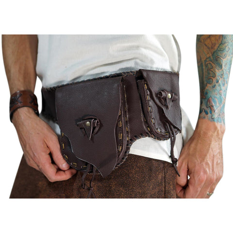 'Wayfarer' - Leather Utility Belt, Burning Man - Brown
