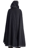 'Hooded Cloak' - Black/Stone Gray - zootzu