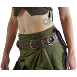 'Rings New' Handmade Leather Utility Belt -  Brown - zootzu