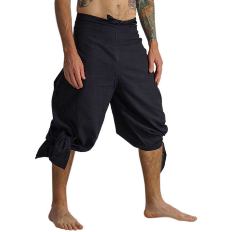'COTTON WRAP PANTS' Burning Man - BLACK