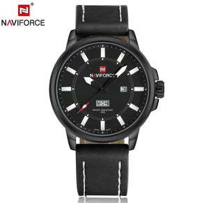 NAVIFORCE Mens' Outdoor watch in leather strap N9075-2
