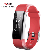 Smart Wristband Fitness Companion - Red