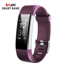 Smart Wristband Fitness Companion - Purple