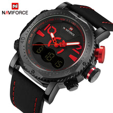 NAVIFORCE Mens' Military Watch with Leather strap N9094-2